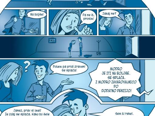Modra zavarovalnica strip